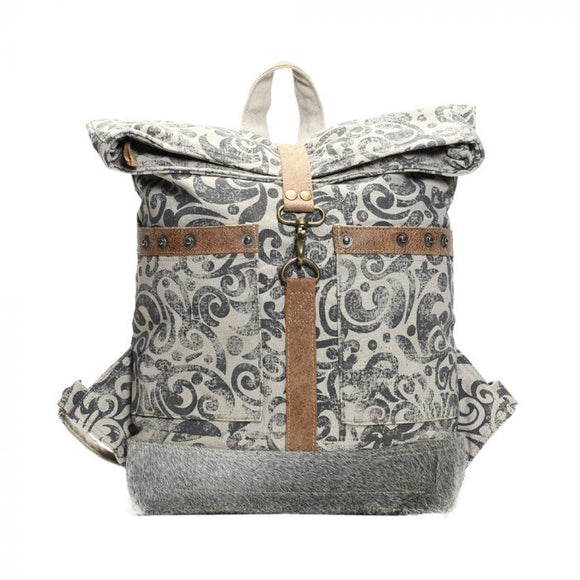 Myra Backpack, Large size. Fold over .-Accessories-TERRA COTTA BOUTIQUE