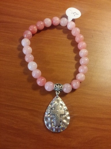 Pink Bracelet.-Jewelry-TERRA COTTA BOUTIQUE