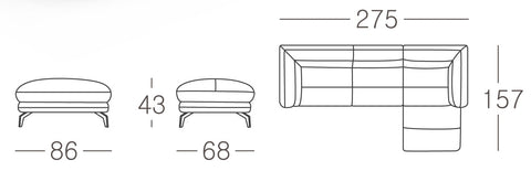 Brussels Corner Sofa Size Guide