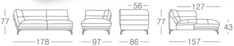 Brussels Corner Sofa Size Guide 2