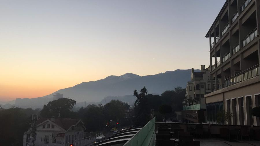 Early Morning in Bursa balcony view