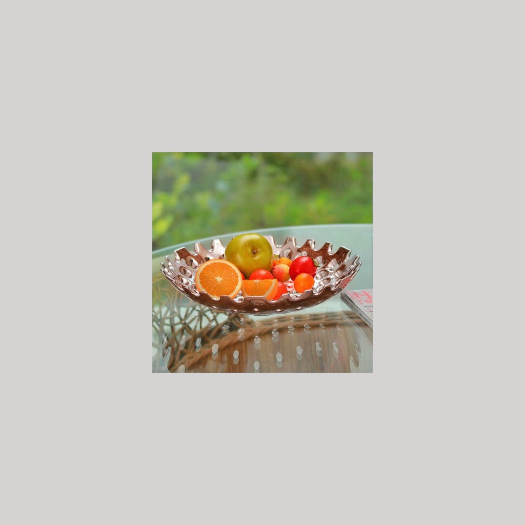Chrome Plated Round Fruit Bowl - NuvoItalia