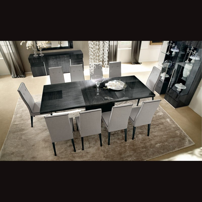 Montecarlo Grey High Gloss Dining Room Suite by ALF Italia, 10 PC - NuvoItalia