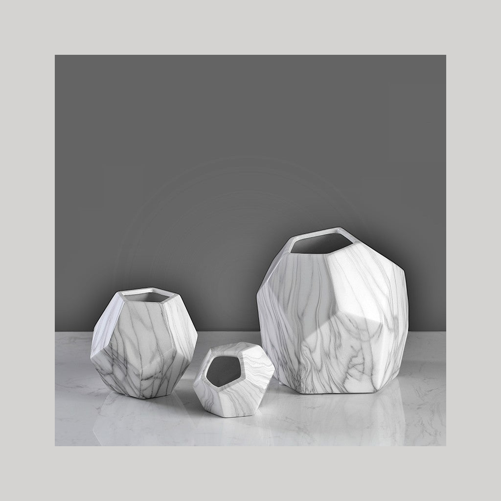 3D Ceramic Table Vase Set 3 PC - NuvoItalia