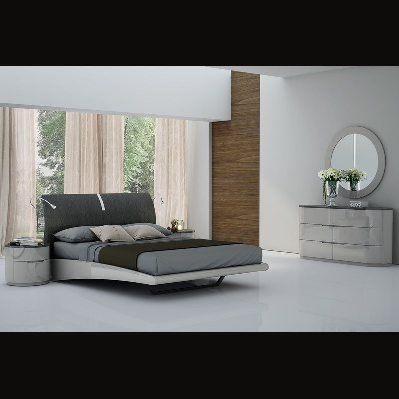 Venice Queen Bedroom Set by Perfect Line in Grey Walnut, 5 PC - NuvoItalia