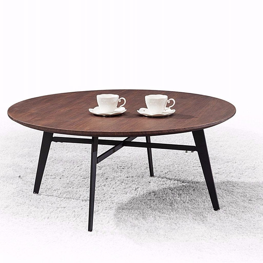 New York Round Coffee table by Sibelli, in Brown - NuvoItalia