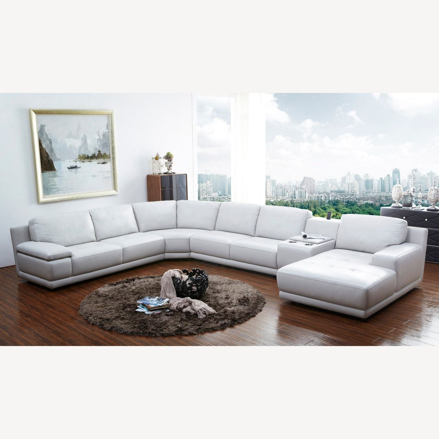 Astana Full Leather Corner Couch