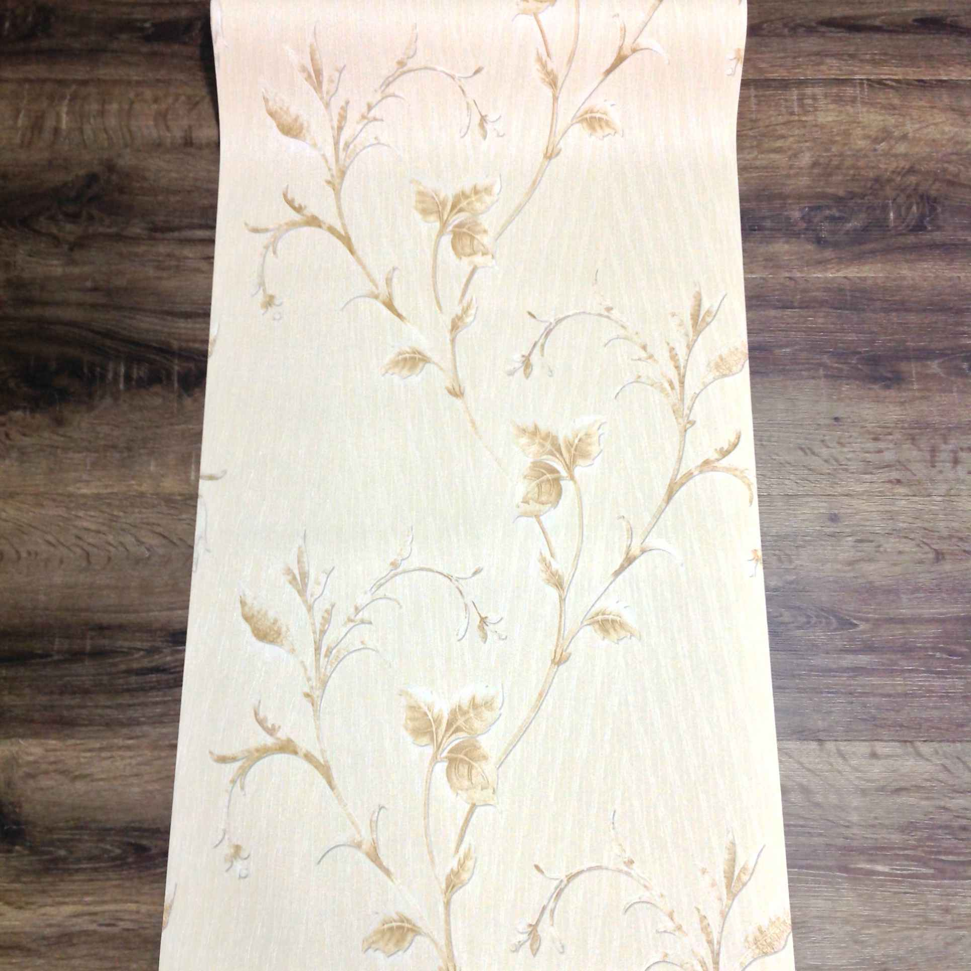WALLPAPER CT-1862 Beige Floral Rustic Design
