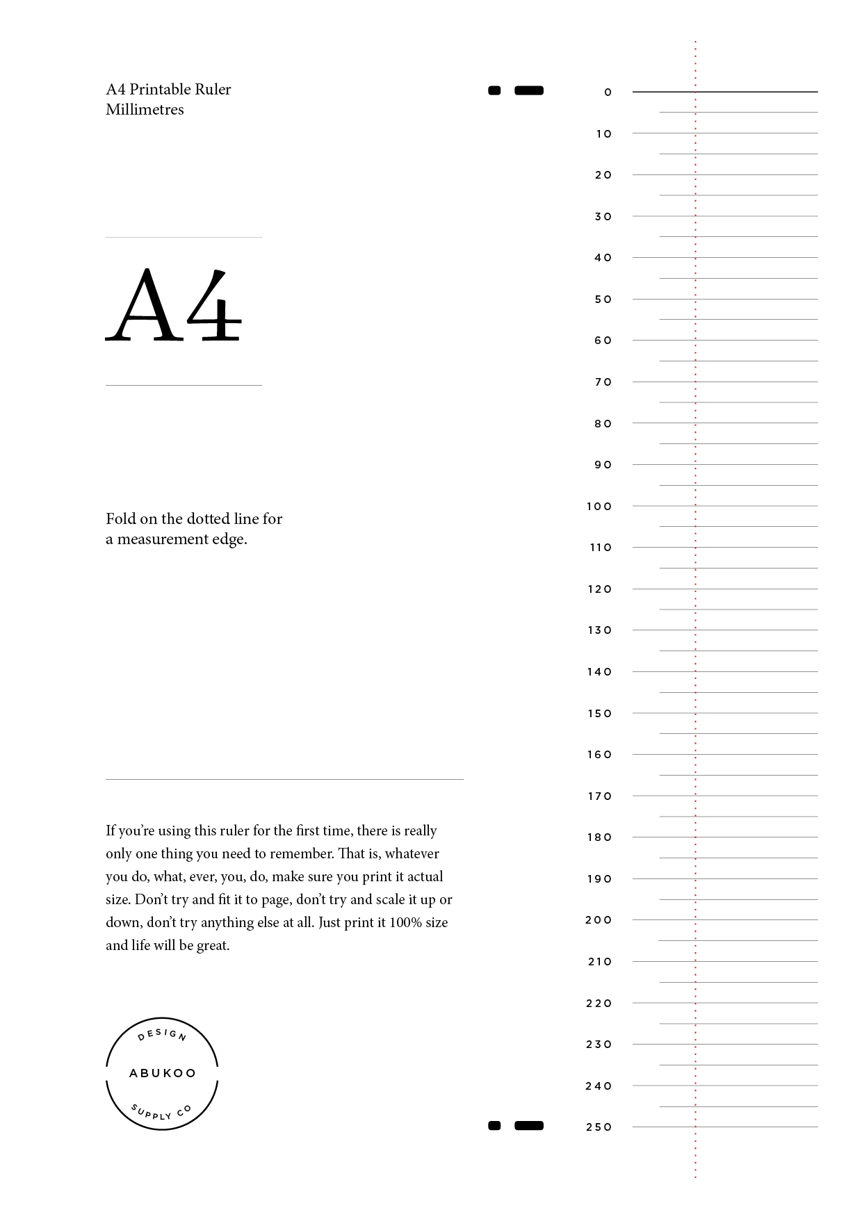 picture about Printable Ruler referred to as Printable Ruler Layout - Abukoo