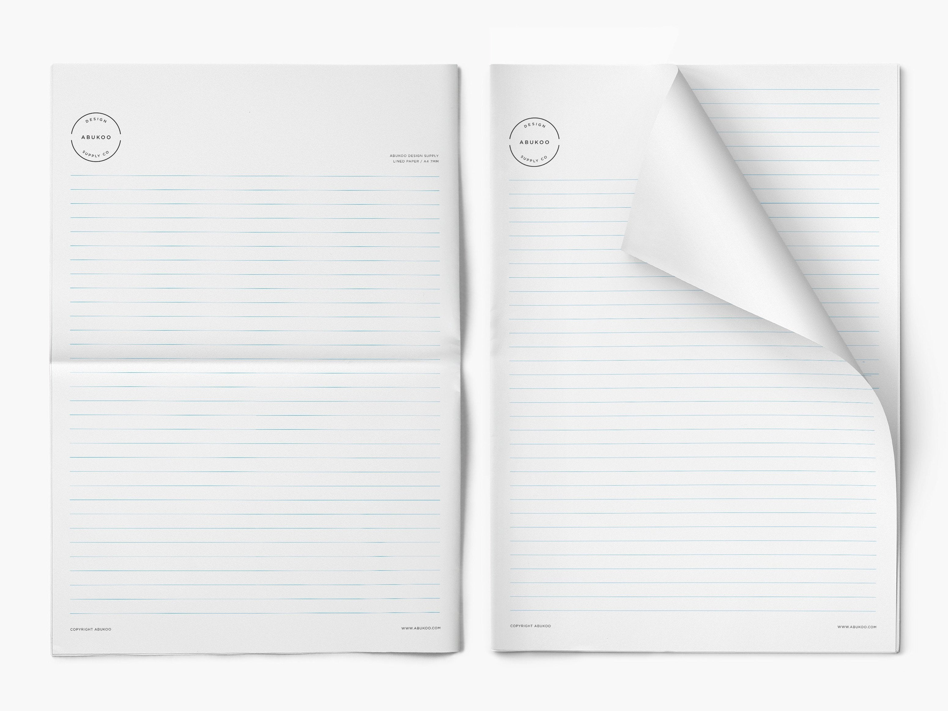 image about Printable Lined Paper A4 identified as Cost-free Printable Coated Letter Paper - Abukoo