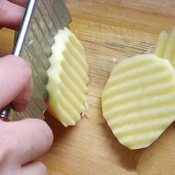 New Wavy Cutter Potato Knife Stainless Steel - shopylara