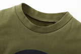 New Set Short Sleeve Letter Print T-shirts -Camouflage - shopylara