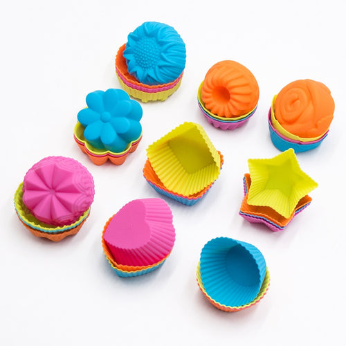 New 3D 36 Pieces CupCake Silicone Muffin Cupcake Mold Baking Tools - shopylara