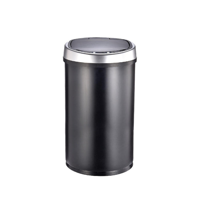 Automatic Motion Sensor Touchless Trash Can USB Charging Durable Stainless Steel Induction 10 12 16L Waste Bin - shopylara