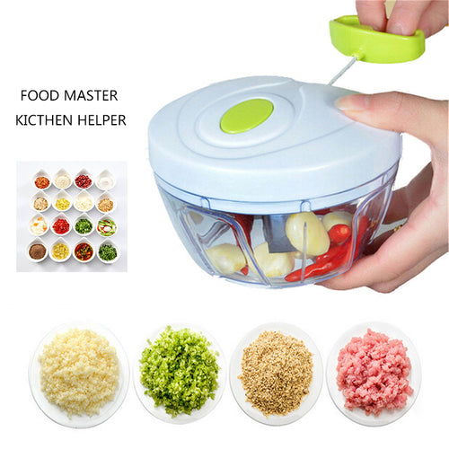 Kitchen Tools Multifunction High Speedy Chopper Design Chopper Garlic Cutter Vegetable Fruit Twist Shredder Manual Meat Grinder - shopylara
