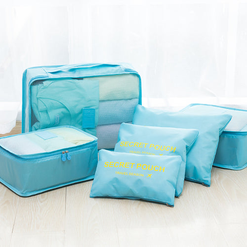 Waterproof Multi-function Travel Portable Storage Bag 6 PCS
