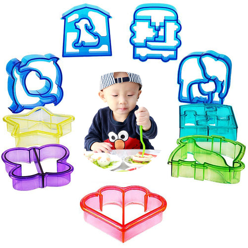 9 PCS Sandwich Cutter for Kids - Best Bread Cutters Shapes for Kids Suitable for Cakes and Cookie - shopylara