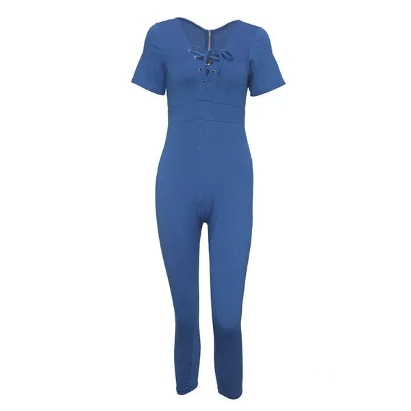 1ec45a5cf7 ... Tight Denim Jumpsuit-Blue - shopylara