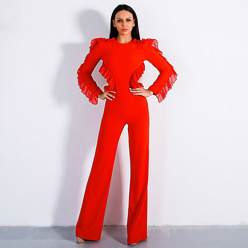 b54cc909df Gorgeous Long Sleeve Backless Jumpsuit - shopylara