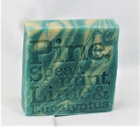 Pine, Spearmint, Lime and Eucalyptus Natural Soap 100g