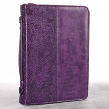 Faith LuxLeather Bible Cover Purple