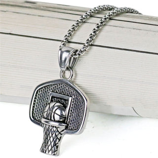 Stainless Steel Basketball Necklace + Pendant - Crafted Sports