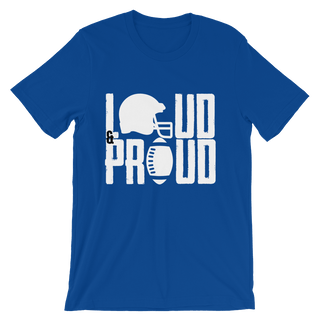 Loud & Proud - Custom Football T-Shirt - Crafted Sports