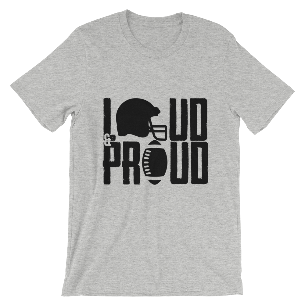69d241a4075e ... Crafted Sports · Loud   Proud - Custom Football T-Shirt ...