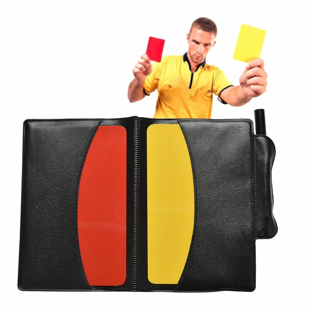 Soccer Referee Kit Red Yellow Card Notebook - Crafted Sports