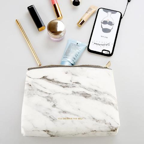 Glamorous Marble Large Accessories Bag - A Accessories by Independent She