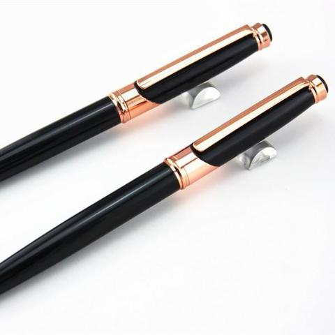Luxury Black Rose 0.7 mm Gold Roller Ball Pen - A Office by Independent She