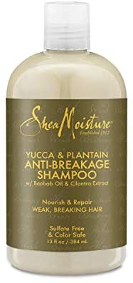 Shea Moisture Yucca & Plantain Anti-Breakage Strengthening Shampoo-13 oz