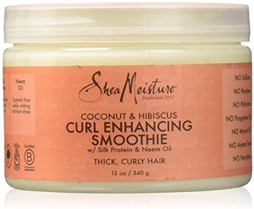 SheaMoisture Coconut and Hibiscus Curl Enhancing Smoothie, 12 oz!