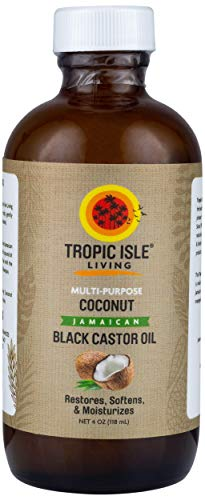 Tropic Isle Living Jamaican Coconut Black Castor Oil 120ml - Jamaican Black Castor Oil & Hair Repair