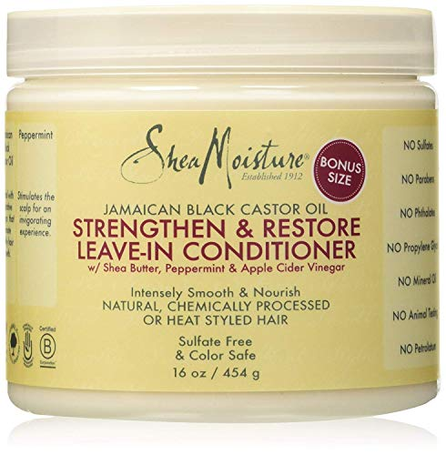 Jamaican Black Castor Oil by Shea Moisture Strengthening and Restore Leave-In Conditioner 431ml - Jamaican Black Castor Oil & Hair Repair