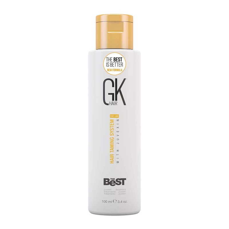 Global Keratin GKhair The Best Professional Hair Straightening, Smoothing Keratin Treatment (100 ml/3.4 fl.oz) For Silky, Smooth Natural Hair - New Formula - Jamaican Black Castor Oil & Hair Repair