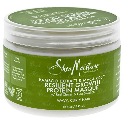 Shea Moisture Bamboo Extract & Maca Root Resilient Growth Protein Masque by Shea Moisture for Unisex - 12 oz Masque, 430.91 grams - Jamaican Black Castor Oil & Hair Repair