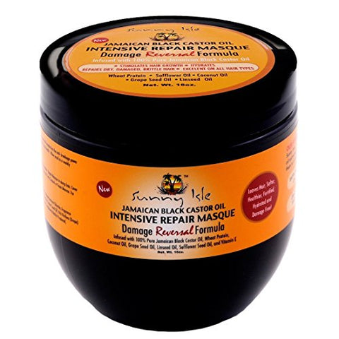 Sunny Isle - Jamaican Black Castor Oil Intensive Repair Masque - 16 oz. - Jamaican Black Castor Oil & Hair Repair