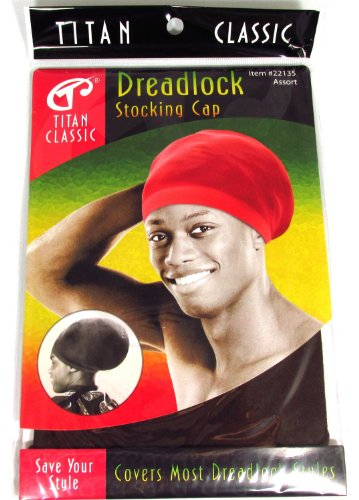 Titan Classic Dreadlock Stocking Cap #22135 [Brown] - Jamaican Black Castor Oil & Hair Repair
