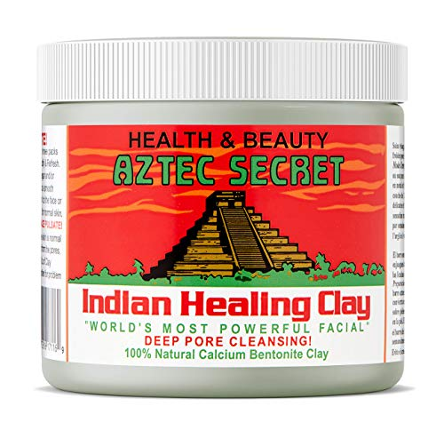 Aztec Secret - Indian Healing Clay - Deep Pore Cleansing Facial & Healing Body Mask - The Original 100% Natural Calcium Bentonite Clay - Jamaican Black Castor Oil & Hair Repair