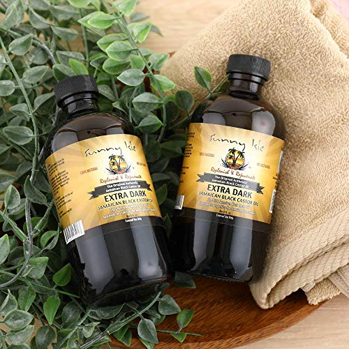 Sunny Isle Extra Dark Jamaican Black Castor Oil - 8 ounces