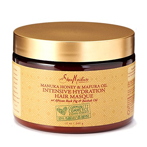 SheaMoisture Manuka Honey &Mafura Oil Intensive Hydration Treatment Masque Packet| 12 fl. oz. - Jamaican Black Castor Oil & Hair Repair