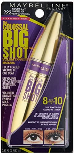 Maybelline Volum' Express The Colossal Big Shot Washable Mascara Blackest Black - Free Delivery