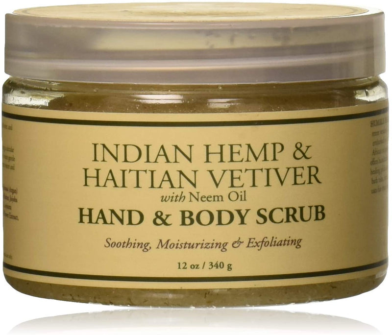 Nubian Heritage Hand and Body Scrub, Indian Hemp Haitian Vetiver, 12 Ounce