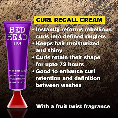 TIGI Bed Head On The Rebound Curl Recall Cream, 125ml - Jamaican Black Castor Oil & Hair Repair