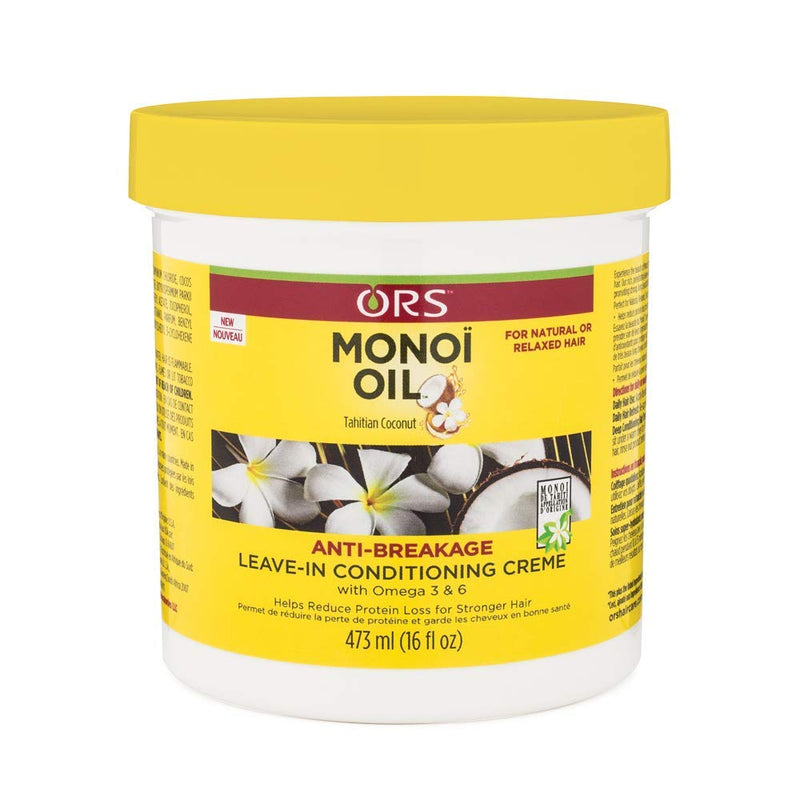 ORS Monoi Oil Anti-Breakage Leave-in Conditioning Creme, - Jamaican Black Castor Oil & Hair Repair