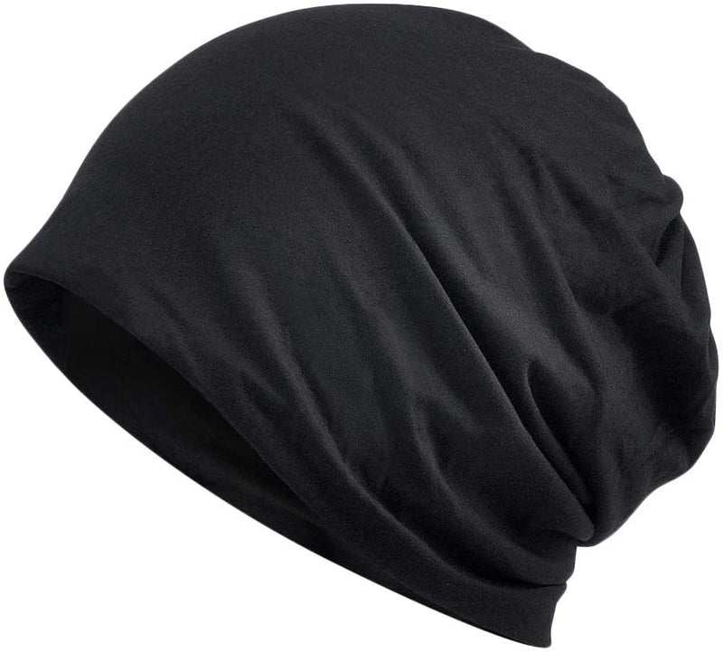 Anti-frizz Satin Lined Sleep or Daytime Slouchy Beanie by Victory + Style: Smooth and Shiny Hair Everyday