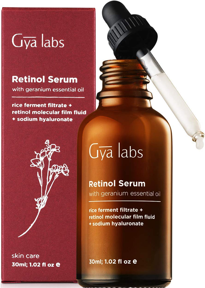 Retinol Serum 2.5% - A Floral Kiss of Rejuvenating Rose Geranium & Age Defying Beauty (1 fl oz) – Pure Retinol Serum for Face