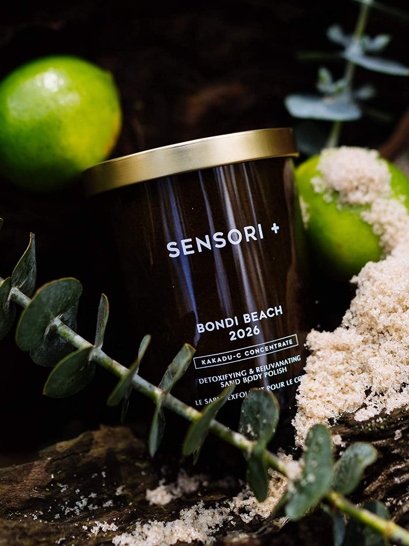 SENSORI + Detoxifying and Rejuvenating Sand Body Polish & Sugar Scrub Exfoliator, Bondi Beach 2026, 1 count