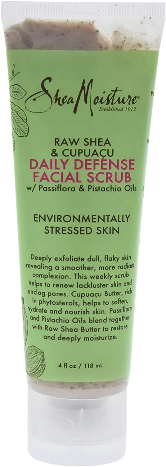 Shea Moisture Raw Shea & Cupuacu Daily Defense Facial Scrub by Shea Moisture for Unisex - 4 oz Scrub, 118 ml